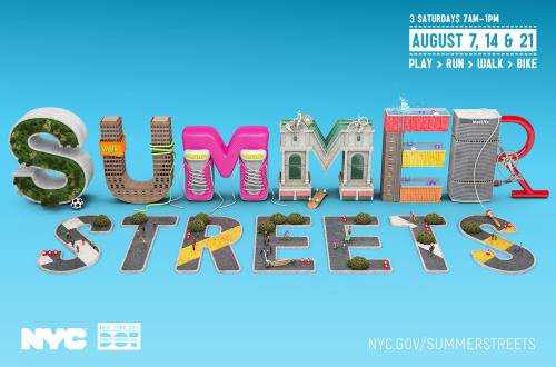 summer streets NYC / typographic illustrations designed by Chris Labrooy for the New York Summer Streets festival