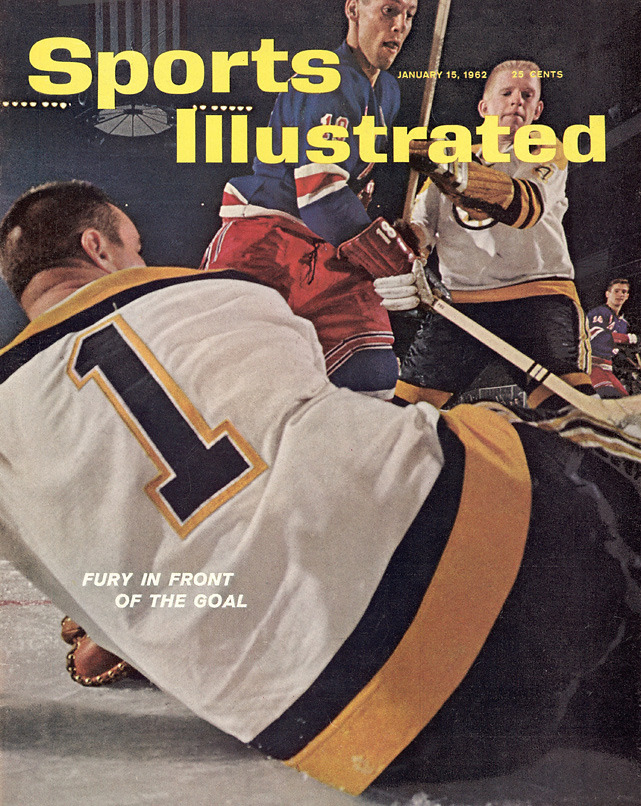 Fifty years ago this week, Bruins goalie Don Head graced the cover of Sports Illustrated. The photo, part of a six-page color spread, is significant because it's one of the first times a photographer was allowed to set up a camera in the goal. (John G. Zimmerman/SI) View every page of the Jan. 15, 1962 issue of Sports Illustrated