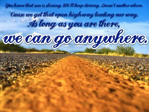 "-Jesse McCartney, ""We Can Go Anywhere"" lyrics from the album ""Right Where You Want Me"" 2004 :)"
