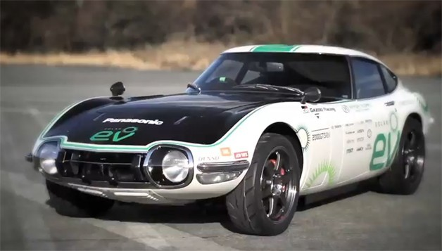 """Classic Toyota 2000GT turned into solar-powered EV (w/ video)"" The engineers behind the exercise ditched the standard 2.0-liter inline  six-cylinder engine in favor of a 161-horsepower electric motor. A 35kWh  lithium-ion battery provides the system with power, and the hood has been covered with  photovoltaic cells to help keep the car going. Likewise, the back glass  is covered in a transparent solar panel. All told, the system can propel  the vehicle to around 124 mph. ____________________ Can you imagine what it was like to transition from animal-based transportation (i.e. horses) to automobiles around the turn of the century? As dwindling resources challenge our own guilty desires tied with our love of automobiles (speaking mostly about myself), we have to accept the inevitable that something has to change for the better when it comes to the century-long reign of fossil fuels. So when I read about projects like this, I can appreciate that the technology shift from one energy resource to another has a ""familiar face"". Mostly because consumers in general tend to become polarized when presented with a concept that may be too foreign even if it's well intentioned. As the saying goes in the world of transportation design, it would be more likely for people to get aboard a car that could hover versus one that could fly. And retrofitting classic cars with the latest innovations in renewable energy do just that."