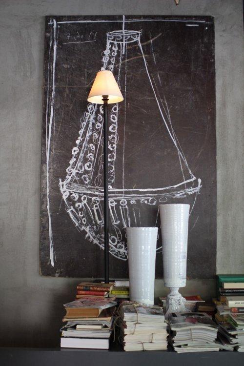 spookyhome:  (via Vosgesparis: Art Chalkboard walls at Velvet)