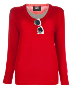 Markus Lupfer Sequinned Sunglass Sweater link