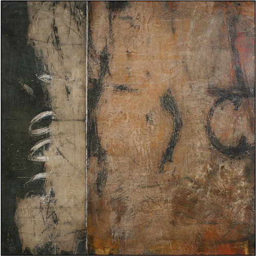 "dailyartjournal:  Ivo Stoyanov, ""Symbols of Memory"" #14, mixed media on canvas"