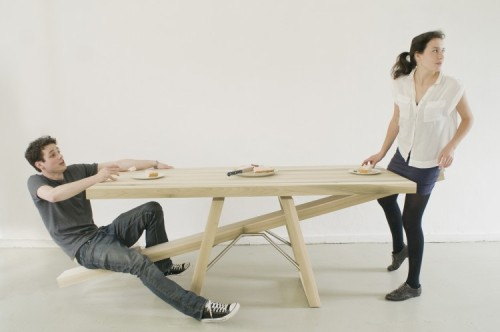 What are you thoughts on this seesaw table by dutch designer Marleen Jansen?