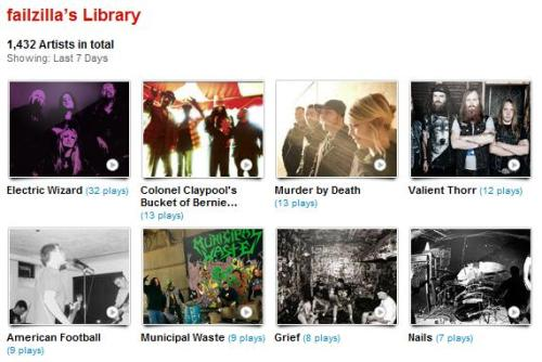 my last.fm for the week of 01.07.12 - 01.13.12