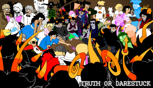 reasonartforever:  TRUTH OR DARESTUCK A truth or dare ask blog for Homestuck.  The ask box is open and we're just launching it.  So throw some truths or dares the way of any character and we'll get to them as soon as we can.