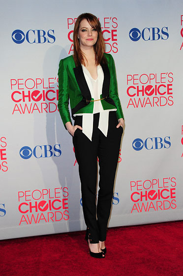 Emma Stone at the People's Choice Awards. From the pictures I saw, she was easily the best dressed.