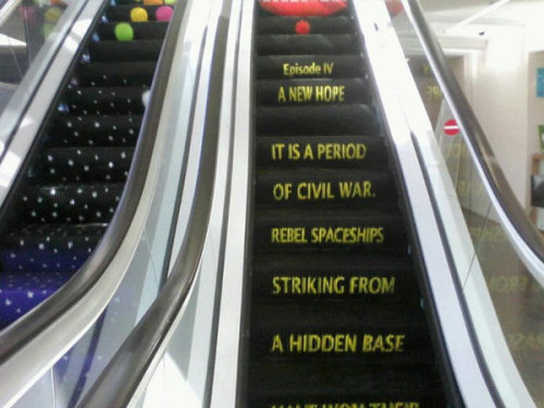 The escalator in the Tel Aviv Municipality Building