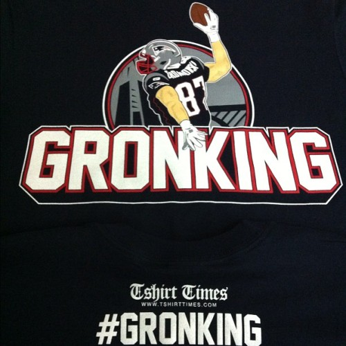 Just finished the #gronking #patriots #tshirts (Taken with instagram)