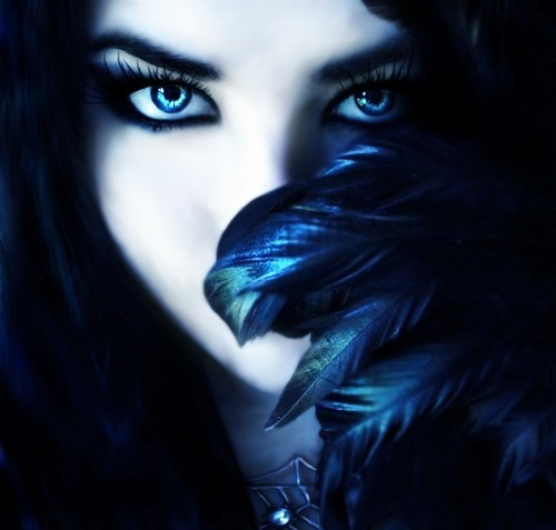(via art, beautiful, black, blue, blue eyes, color - inspiring picture on Favim.com)
