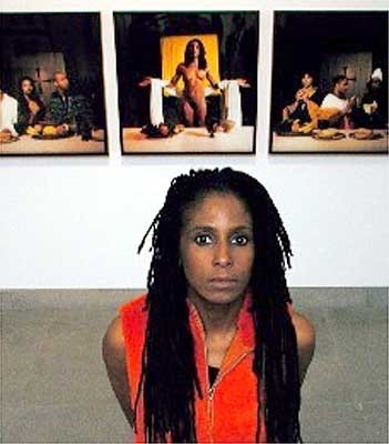 "tastemybraincandy:  Renée Cox  is a controversial African American artist who uses her own body to celebrate black womanhood and criticize a society that she often views as sexist or racist. Cox has stated that her ""main concern is the deconstruction of stereotypes and the empowerment of women."" She uses herself as her primary model in order to promote an idea of ""self-love."" ""(Renee's) her own heroine. She's very much about using the work as a platform for self-love. And she's clearly having fun in her role playing. It's a very New York attitude: 'Yeah, so what? I'm Jesus. I'm Wonder Woman."""