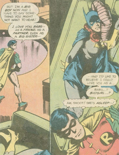 fyeahdickgrayson:  miss-mgann:  rejected -Batman Family #13    or was he? ;) From Nightwing Annual #2