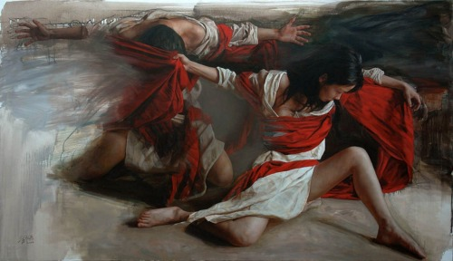 LIU YUANSHOU WARRIOR 戰士 Oil on canvas 2009 115 x 200 cm
