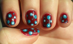 Red with Blue Dots  Inspired by the Telemundo anchorwoman's dress last night.