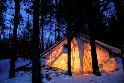 Traditional Winter Camping, Algonquin Park, Ontario