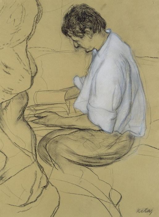 R.B Kitaj, Portrait of Lucian Freud, 1991
