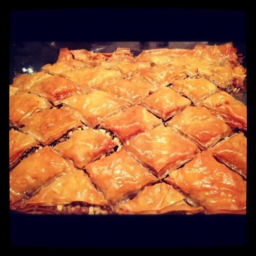 First attempt at Baklava  (Taken with instagram)