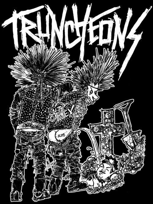 -TRUNCHEONS T-SHIRT DESIGN (black)- ballpoint pen//sharpie