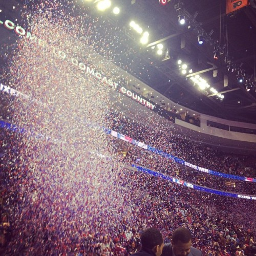 rizzojerry:  Sixers Win! Sixers down Wizards 120-89 to stay undefeated at home. (Taken with instagram)