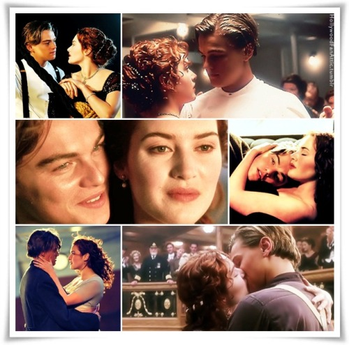 Sweet moments with Jack and Rose collage.