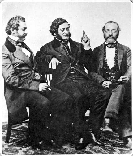 Pablo de la Guerra, Salvador Vallejo, and Andrés Pico were three prominent Californios who were born in what was then a Spanish colony, worked for the government of Mexico after independence, and died as US citizens after their respective home towns came under US rule following the Mexican-American War. Pablo de la Guerra (1819-1874), a native of Santa Barbara and the son of an early Spanish-born settler of Alta California, was acting Lieutenant Governor of California in the 1860s and served in the California state legislature. Salvador Vallejo (1813-1876), the younger brother of  a prominent Mexican military officer (Gen. Mariano Guadalupe Vallejo of Sonoma), worked as a captain in the Mexican army alongside the indigenous Chief Sam-Yeto/Chief Solano in Alta California's campaigns against the indigenous communities of its northern regions. He was commissioned as a Major in the Union army during the US Civil War but did not see any combat. Andrés Pico (1810-1876) was born in San Diego of mixed Spanish, indigenous, and African ancestry and was the younger brother of Pío Pico, the last official Mexican governor of Alta California. He worked as a military officer and signed the Treaty of Cahuenga of January 13, 1847, marking the end of hostilities between Californio and American troops in Alta California towards the end of the Mexican-American War. After the transition to US rule, he was elected to the California state legislature. (Photo from the Bancroft Library of the University of California, Berkeley.)