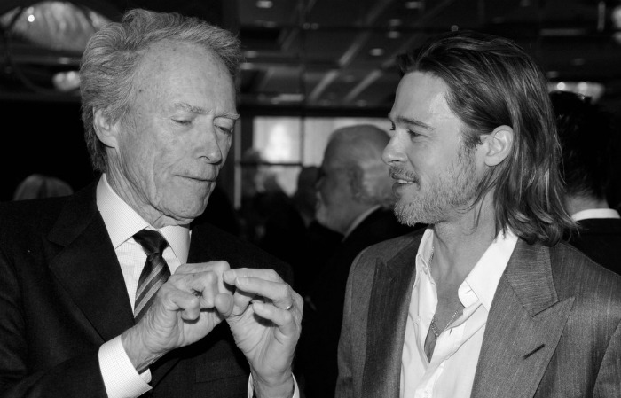 Clint Eastwood and Brad Pitt