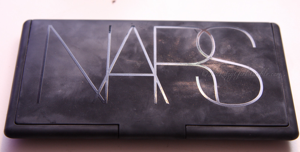 See how dirty the NARS palettes can get? I like the sleek design but the rubbery texture gotta go. NARS All About the Cheeks palette taken by http://theritzygirl.tumblr.com/