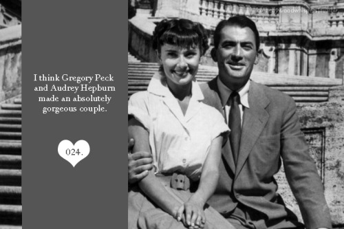 024. I think Gregory Peck and Audrey Hepburn made an absolutely gorgeous couple.
