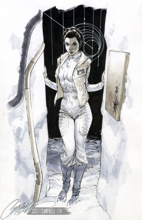 HOTH Leia // by J-Scott-Campbell