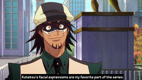 tigerandbunnyconfessions:  Kotetsu's facial expressions are my favorite part of the series.   Submitted by anon