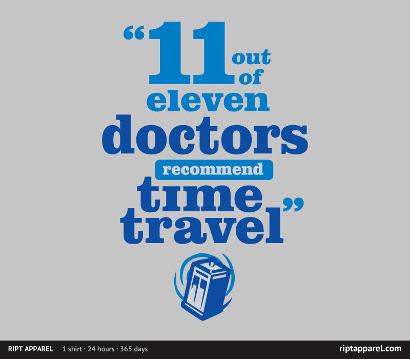 Limited Edition Tshirt: Doctor Recommended by WinterArtwork is on sale for $10 from RiptApparel for 24 hours only.
