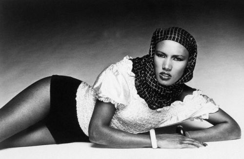 vintageblackglamour:  Grace Jones, September 1977.