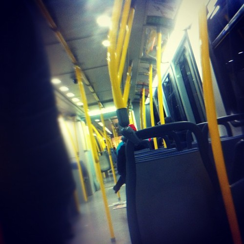 Skytrain home after going Balls Out (Taken with instagram)
