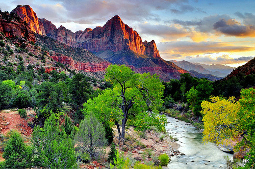 Zion National Park Sunset - Watchman (by NikonKnight)