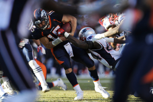 Divisional Preview: Broncos at Patriots @steven_lebron - Denver Broncos I don't know what I'm watching anymore. I don't know what I'm writing anymore. If we accept Tim Tebow as a competent passer in the league based on what we saw last week, than he should be able to find ways to exploit the Patriots' secondary. Having played against each other just a month ago, I think the familiarity will help Denver on both sides of the ball. The Patriots have been here before, just last year, heavily favoured as the top seed against the New York Jets in another regular season rematch. And we all know what happened. This is going to be a closer game than most people think (the Patriots opened as 14 point favorites). In honor of Bart Scott: can't wait! @nhall - New England Patriots I hate to be a Broncos downer but I think their time has run out. Great display last week but I don't see another team sticking with and getting killed by a defensive scheme like that.  Heres how the Broncos can win, they control the ball and eat up time with the running game.  Now that could happen if New England doesn't load up the line of scrimmage like Pittsburgh did. In fact that's how the Broncos jumped out to an early lead in the first game.  But they can only sustain that for so long.  The Patriots have proved over the last couple weeks in the regular season that they don't have any problem spotting the opponent 3 touchdowns in the first half of the game. With Tom Brady they can erase a deficit like that in no time. I agree that it will be close for a while but by the end New England will overpower this team. New England is just too good on offense. You don't think Brady hears the talk of them losing the past two years at home? You don't think Belichick is bringing that up to these players? A home playoff game for New England against the 8-8 Broncos. I can't go against Brady and Belichick in January. Give me the Pats.