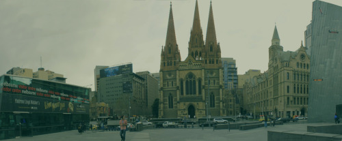 Just a panorama I made near the Flinders st. in Melbourne