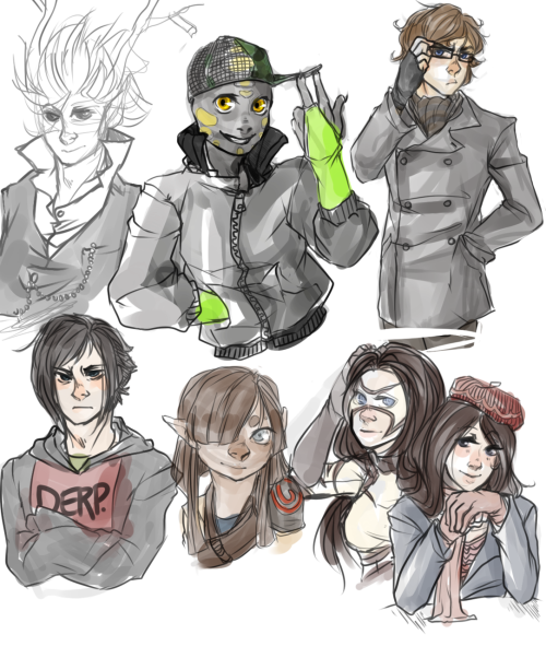 sonicbatteries:  join.me sketches   HEEEEEEE. All the characters here appart from the non-colored one is mine, so Aimee spoiled me epicly today <333 EVERYONE SHOULD GO LOVE ON HER.