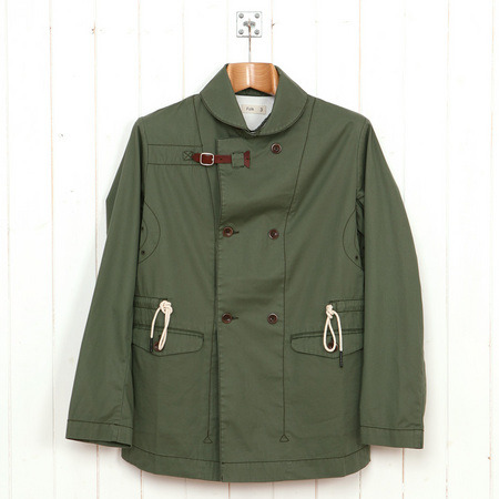 Folk Clothing overcoat in GreenAs worn by John in Series 2 100% Cotton. Drawstring waist. Button front pockets. Removable buckle.£260 / $398 Available here at old.oipolloi.com (Spring/Summer '11 design available at Folk's official site here)