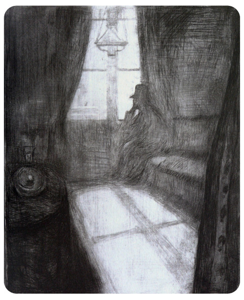 Dibujo preparatorio, Munch