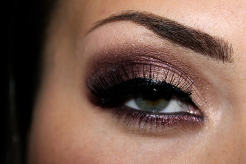 Burgundy look using Coastal Scents Fall Festival palette.