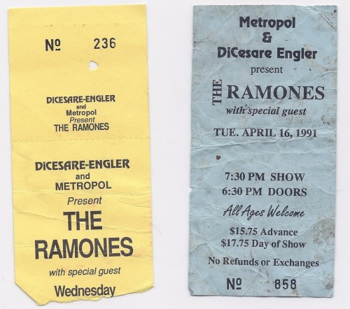 ghoulmann:  Ramones Stubs. Still discovering stuff after a move.