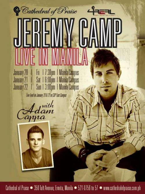 Jeremy camp LIVE in Manila…asan na ticket ko tagal dumating..:)