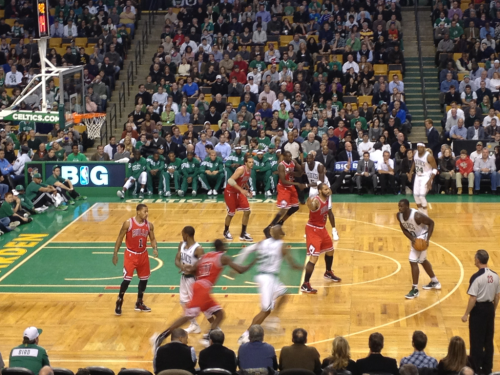 This close at the Celtics vs Bulls :)