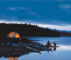 Newfoundland, Campers at night