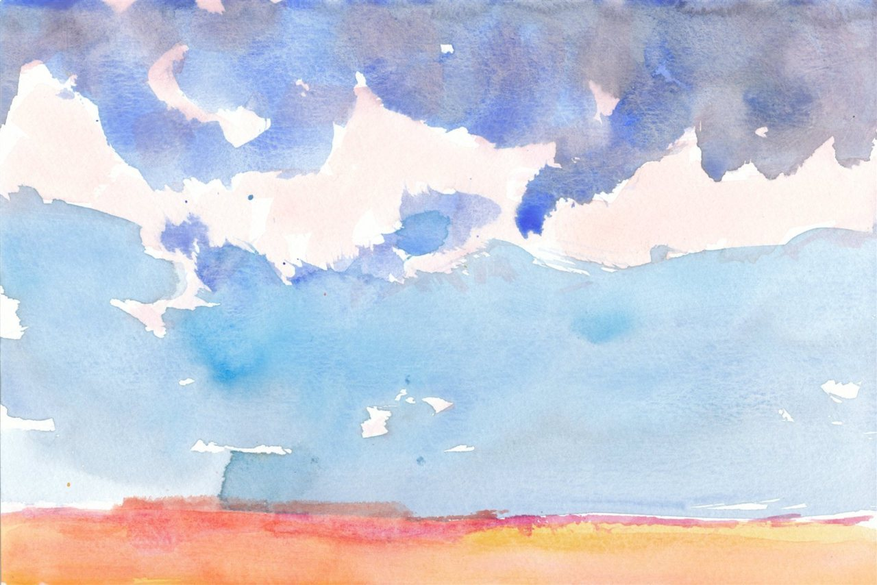 Desert 870  Watercolor   The desert is good and i don't pretend to know why   #painting #art Desert 870 http://rgphil.com/?s=870