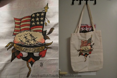 FOR SALEmarked Sailor Jerry bag200 SEK/ 27$/ 21€/ 19£ email me at: strawberrypajen@hotmail.com to place the order, first one gets the bag. tell me where to send it and I'll check the shipping rates.PAYPAL ONLY!