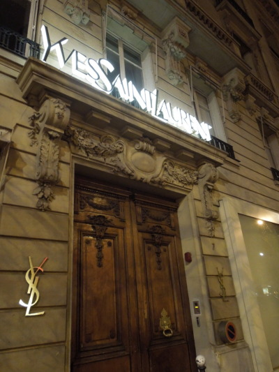 Look What We Found: YSL in Paris.  Panda will be going here as a part of her French Fashion course.  How bad could that be?