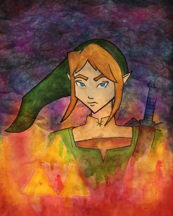 Did a Legend of Zelda painting! Inspired by my sister, Anna's love for the game! I think it's pretty awesome too, but she's the true fan! :) Available here!