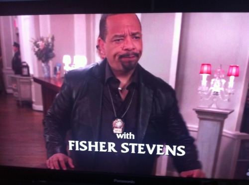 "I'm watching a nearly perfect episode of SVU. 1) Fisher Stevens is guest starring as a real theater-type.  2) His name came up right when Fin Tutuola was trying to get the facts.  3) It's about an attack at a ""Sleep No More"" type play where everyone is wearing masks. Anna  saw the real play and says their research was shoddy at best! Good work SVU! It seems more like Eyes Wide Shut or a strip club, but people in the episode keep blaming interactive theater for this girl getting defiled. Whaaa whaaa.  4. Holy shit Miles from Murphy Brown just showed up. He's a theater critic! He just said ""if I wanted to attack an actress i would do it in print."" Whoaaaa!"