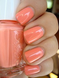 I must try this color this spring! It looks like a dreamsicle!